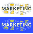 marketing flat line concept for web banner and vector image