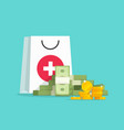 medicine and money concept vector image
