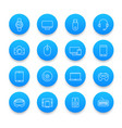modern gadgets icons set in line style vector image vector image