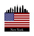 new york skyline vector image vector image