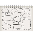 note with set speech bubble vector image vector image