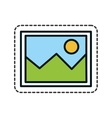 picture file isolated icon vector image vector image