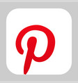 pinterest logo icon vector image