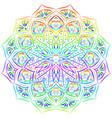 rainbow mandala pattern on white background vector image vector image