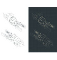 robotic arm isometric drawings vector image