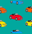 seamless texture of sports cars vector image