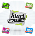 set of shopping stickers and banners vector image