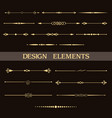 set of vintage golden dividers vector image vector image