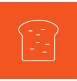 Single slice of bread line icon vector image vector image