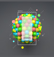 sphere 3d template abstract idea concept vector image vector image
