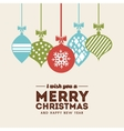 sphere icon Merry Christmas design vector image vector image