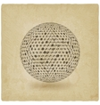 sphere network old background vector image vector image