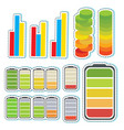 sticker set with different levels of bars vector image