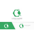 stomach care logo template design vector image vector image