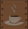 straw mat cup of coffee vector image vector image