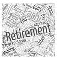 The Joy Of Retirement Word Cloud Concept vector image vector image
