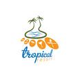 tropical resort design template vector image vector image