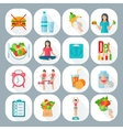 Weight loose diet flat icons set vector image vector image