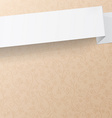 White sheet of paper on a beige background with vector image