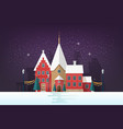 winter cityscape or urban landscape in snowy vector image vector image
