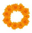yellow chrysanthemum wreath vector image