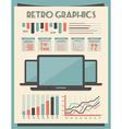 Retro Set of Infographic Elements vector image
