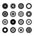 Gear wheel icons set 2 vector image