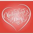 Happy Valentines Day handwritten lettering vector image