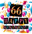 66th years anniversary celebration vector image vector image
