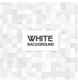 abstract mosaic square white background ima vector image