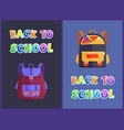 back to schools bags satchels vector image vector image