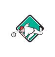 Baseball Pitcher Outfielder Throw Ball Diamond vector image vector image