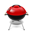 Bbq grill red vector image vector image