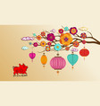 beautiful happy new year 2019 wallpapers year of vector image