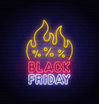 black friday neon sign bright signboard vector image vector image