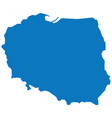 blank blue similar poland map isolated on white ba vector image vector image