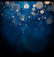 blurred bokeh light on dark blue background vector image vector image