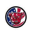 bulldog mascot american flag icon vector image vector image