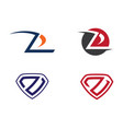 business corporate z letter logo vector image