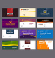 business visit cards colored office corporate or vector image vector image