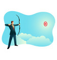 businessman aiming target vector image