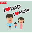 Cartoon Happy family - - EPS10 vector image