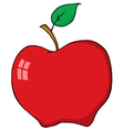 Cartoon Red Apple vector image