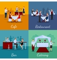 Catering Concept Icons Set vector image vector image