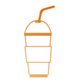coffee in cup plastic icon vector image
