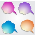 colored speech bubbles set vector image vector image