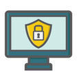 computer security colorful line icon protection vector image vector image