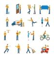 Delivery Courier People Icons Set vector image vector image