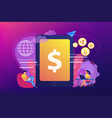 digital currency concept vector image
