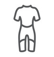 diving suit line icon diving and underwater vector image